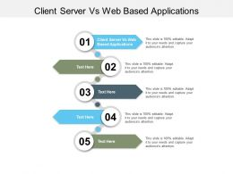 Client Server Vs Web Based Applications Ppt Powerpoint Presentation Summary Cpb