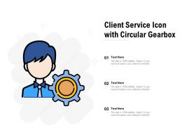 Client Service Icon With Circular Gearbox