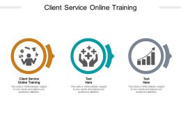 Client Service Online Training Ppt Powerpoint Presentation Show Graphic Images Cpb