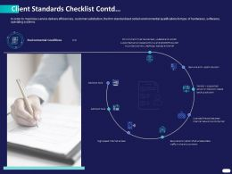 Client Standards Checklist Contd Ppt Powerpoint Presentation Outline Graphics Pictures