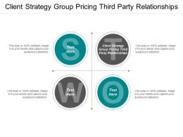 Client Strategy Group Pricing Third Party Relationships Ppt Powerpoint Presentation Styles Graphics Example Cpb