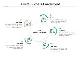 Client Success Enablement Ppt Powerpoint Presentation Slides Example Cpb