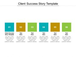 Client Success Story Template Ppt Powerpoint Presentation Summary Deck Cpb