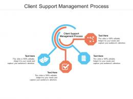 Client Support Management Process Ppt Powerpoint Presentation File Backgrounds Cpb
