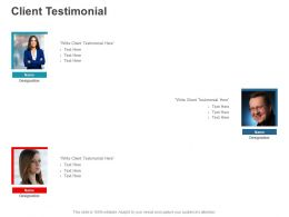 Client Testimonial Communication C891 Ppt Powerpoint Presentation Icon