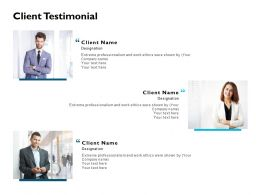 Client Testimonial Communication J204 Ppt Powerpoint Presentation File Layouts