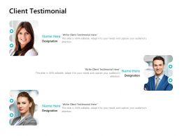 Client Testimonial Communication L686 Ppt Powerpoint Presentation