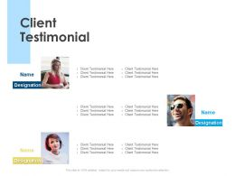 Client Testimonial Communication Ppt Powerpoint Presentation Styles Gallery
