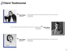 Client Testimonial Introduction A392 Ppt Powerpoint Presentation Layouts Graphics Example
