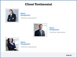 Client Testimonial Introduction C1061 Ppt Powerpoint Presentation Gallery Maker