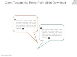 Client Testimonial Powerpoint Slide Download