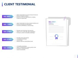 Client Testimonial Ppt Powerpoint Presentation Styles Graphics