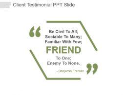Client Testimonial Ppt Slide
