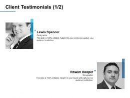 Client Testimonials A378 Ppt Powerpoint Presentation Slides Ideas