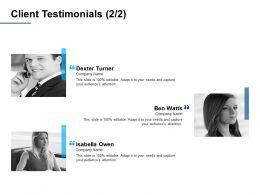 Client Testimonials A379 Ppt Powerpoint Presentation Professional Ideas