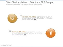 Client Testimonials And Feedback Ppt Sample