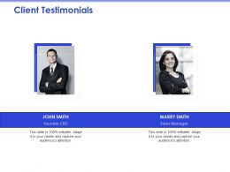 Client Testimonials Audiences Attention Ppt Powerpoint Presentation Ideas Outfit
