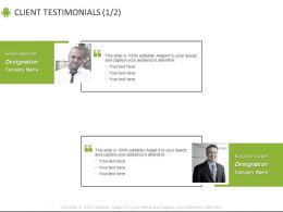 Client Testimonials Business Communication C876 Ppt Powerpoint Presentation File Example
