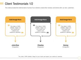 Client Testimonials Charles M1781 Ppt Powerpoint Presentation Slides Guide
