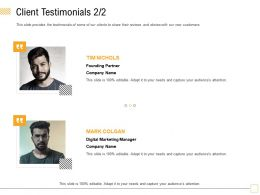 Client Testimonials Colgan M1782 Ppt Powerpoint Presentation Inspiration Layout Ideas