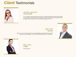 Client Testimonials Communication C888 Ppt Powerpoint Presentation File Maker