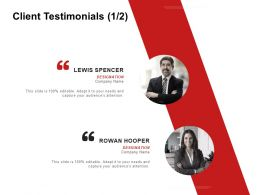 Client Testimonials Communication C984 Ppt Powerpoint Presentation Icon Themes