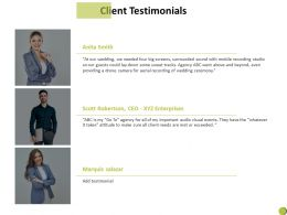 Client Testimonials Communication Introduction C901 Ppt Powerpoint Presentation Summary Microsoft
