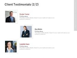 Client Testimonials Communication J224 Ppt Powerpoint Presentation File Outline