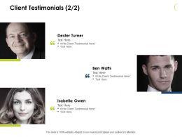 Client Testimonials Communication J54 Ppt Powerpoint Presentation File