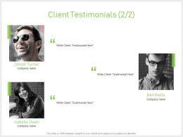 Client Testimonials Communication J70 Ppt Powerpoint Presentation File Grid