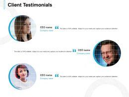 Client Testimonials Communication L558 Ppt Powerpoint Presentation Icon Pictures