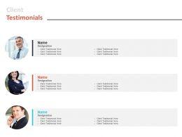 Client Testimonials Communication L580 Ppt Powerpoint Presentation Pictures