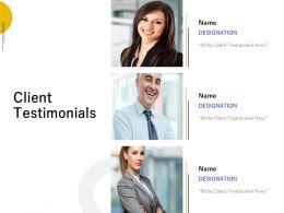 Client Testimonials Communication L667 Ppt Powerpoint Presentation