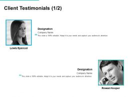 Client Testimonials Communication L728 Ppt Powerpoint Presentation