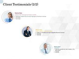 Client Testimonials Communication L738 Ppt Powerpoint Presentation Layouts