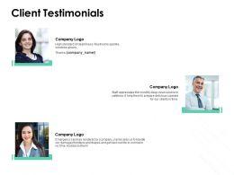 Client Testimonials Communication L823 Ppt Powerpoint Layouts