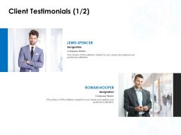 Client Testimonials Communication L826 Ppt Powerpoint Presentation Styles