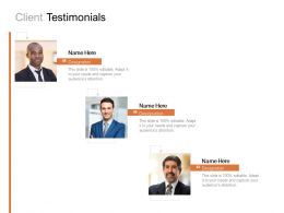 Client Testimonials Communication Management C915 Ppt Powerpoint Presentation Visual Aids