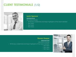 Client Testimonials Communication Ppt Powerpoint Examples