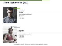 Client Testimonials Communication Ppt Powerpoint Presentation File Model