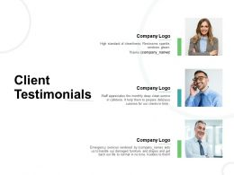Client Testimonials Communication Ppt Powerpoint Presentation Model