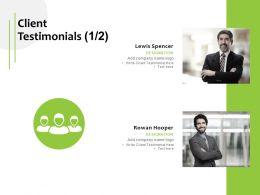 Client Testimonials Communication Ppt Powerpoint Presentation Pictures Clipart