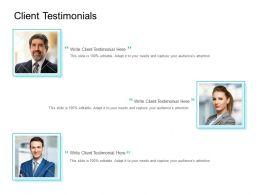 Client Testimonials Communication Ppt Powerpoint Presentation Professional