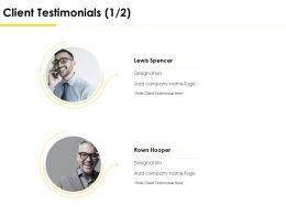 Client Testimonials Communication Ppt Powerpoint Presentation Topics