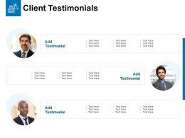 Client Testimonials Communication Ppt Powerpoint Slides Maker