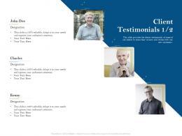 Client Testimonials Designation Pension Plans Ppt Powerpoint Presentation Summary
