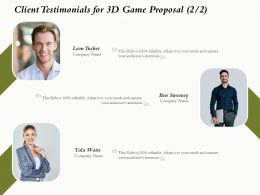 Client Testimonials For 3D Game Proposal L1636 Ppt Powerpoint Presentation Infographics