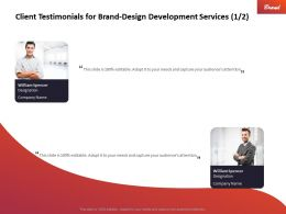 Client Testimonials For Brand Design Development Services Ppt Inspiration