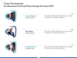 Client Testimonials For Business Card And Flyer Design Services R346 Ppt Clipart
