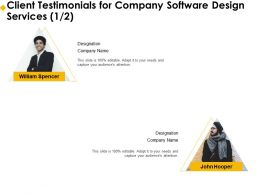 Client Testimonials For Company Software Design Services R263 Ppt Templates
